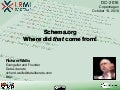 Schema.org: Where did that come from!
