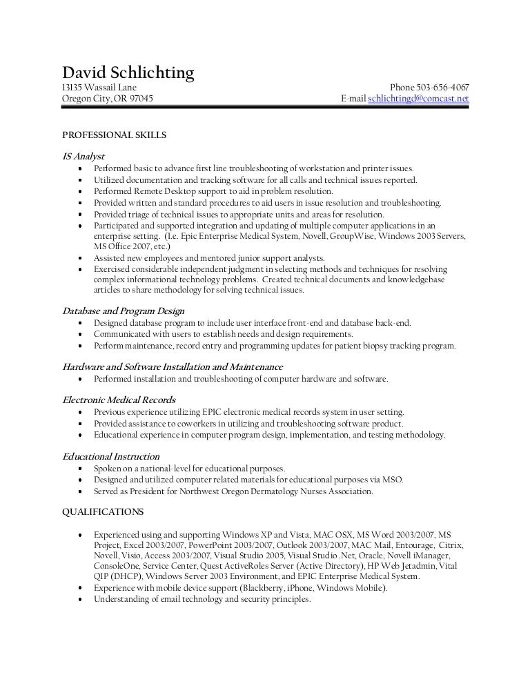 schlichting resume