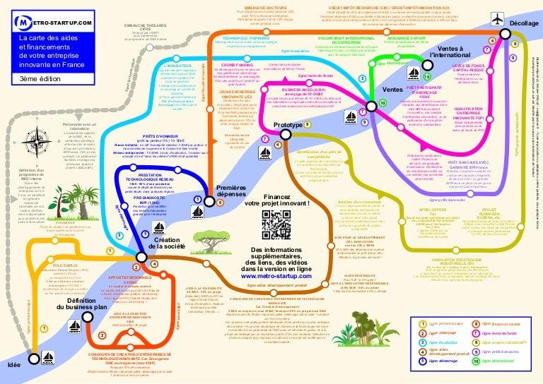 Carte Du Metro Des Financements Startup