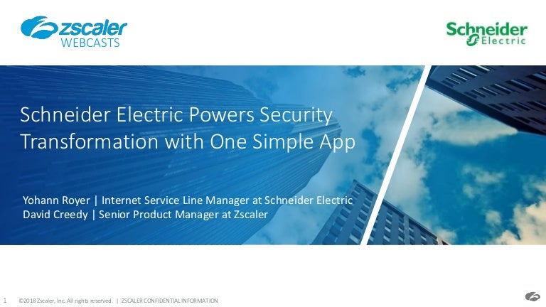 Schneider electric powers security transformation with one