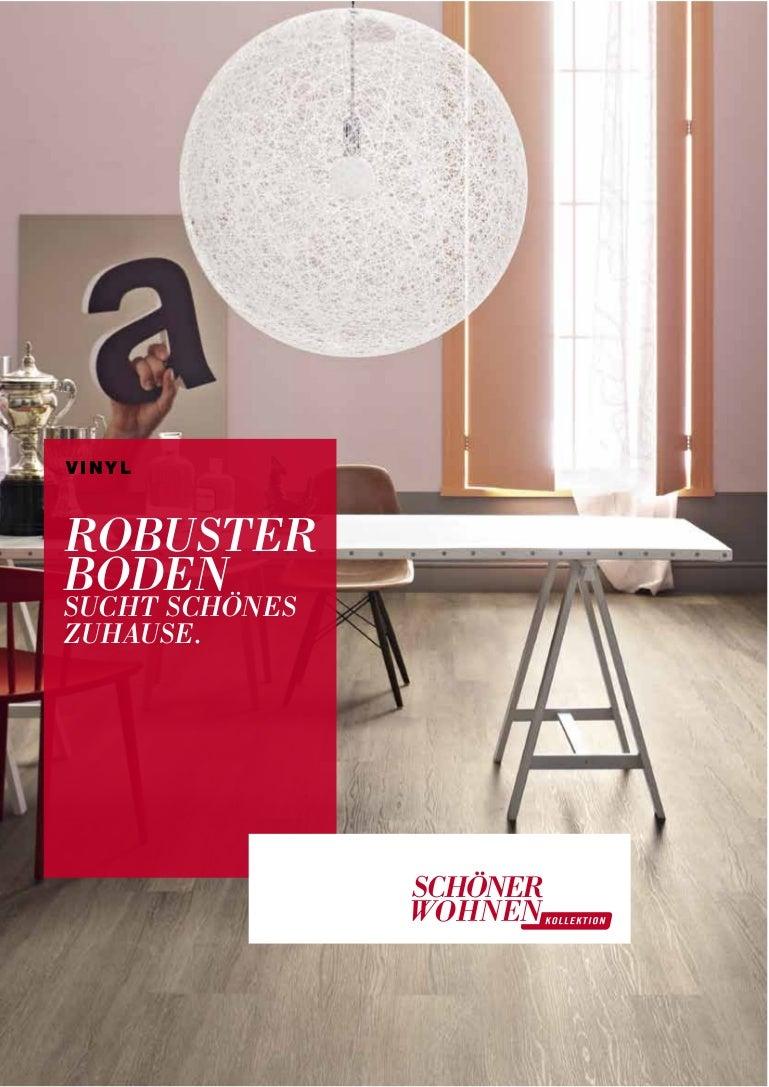 Schöner Wohnen Vinylboden Trend Bodenbelag Kollektion Katalog 2014