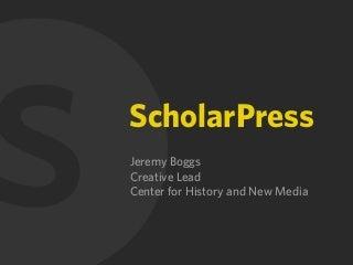 ScholarPress OAH 2010