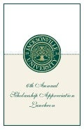 Sixth Annual JU Scholarship Appreciation Luncheon program