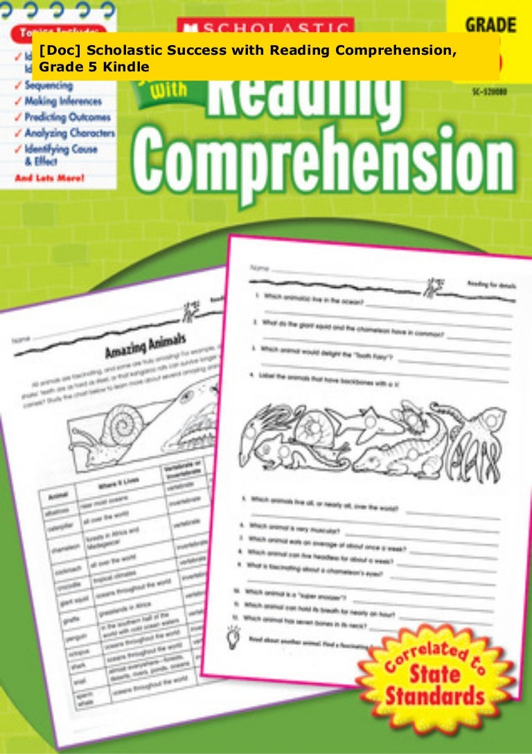 - Doc] Scholastic Success With Reading Comprehension, Grade 5 Kindle