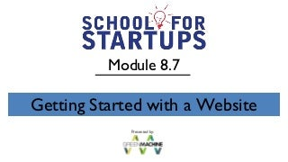 School for startups module 8.7