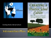 School intervention plan positive sch culture