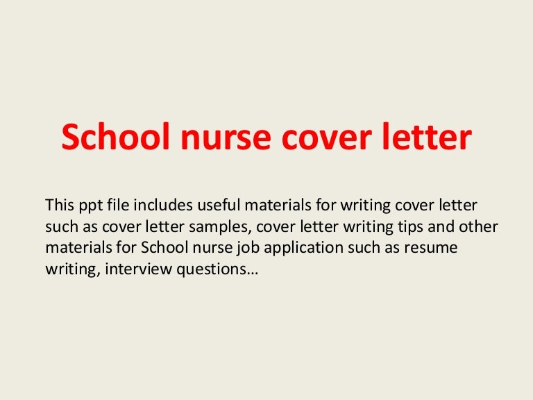 schoolnursecoverletter140228094137phpapp01thumbnail4jpgcb 1393580529 – Sample Registered Nurse Cover Letter