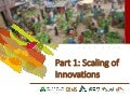 Scaling of innovations