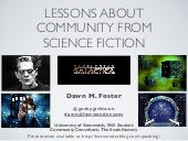 Lessons about Community from Science Fiction