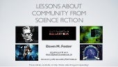 Sci-Fi and Community: DevRelCon 2015