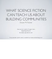 What Science Fiction Can Teach Us About Building Communities: Edinburgh