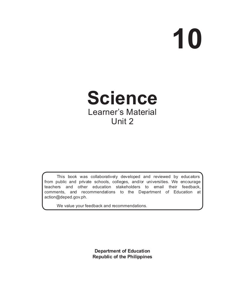 Science 10 Learner\'s Material Unit 2