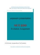 SCI 230 Week 7 Evolution Assignment