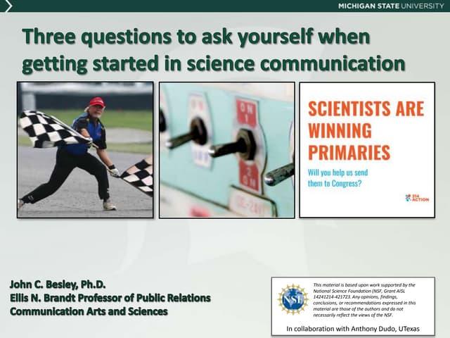 MSU Science Communication Student Group Talk