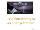 """Scientific writing in an open platform"" - Workshop Opening up Science"