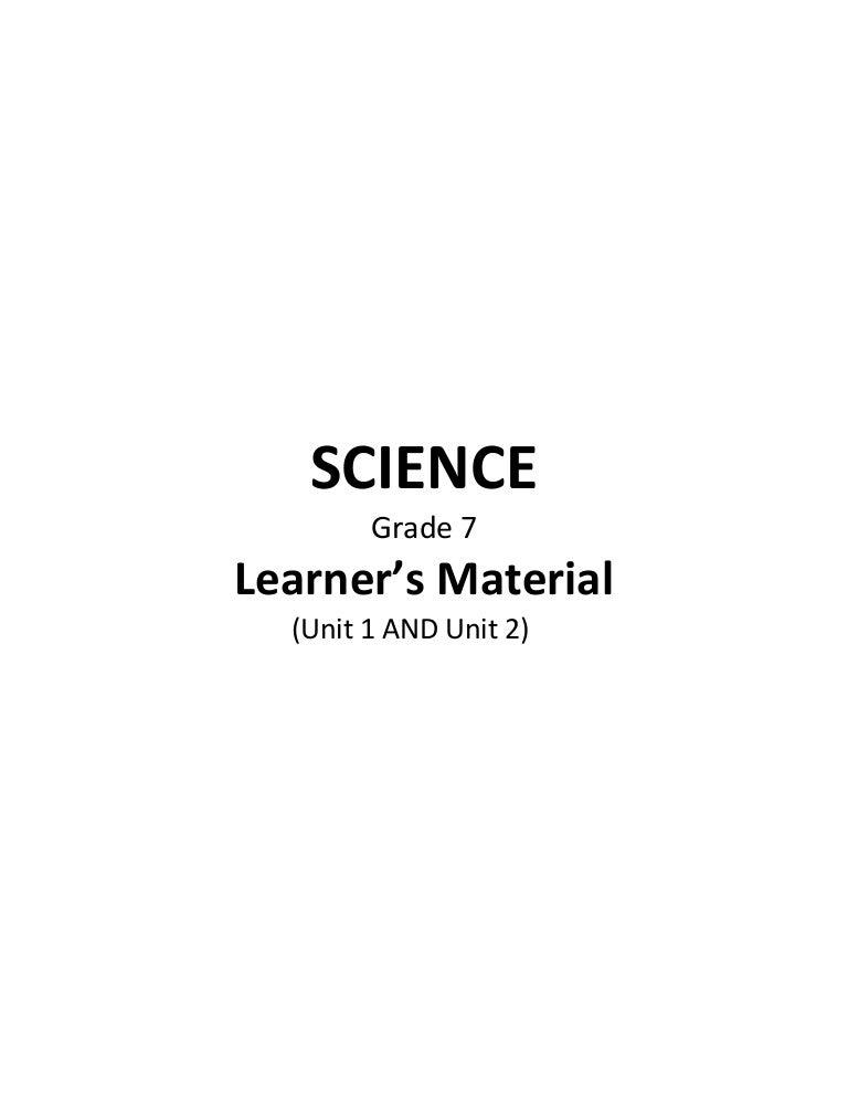 Science grade 7 pdf