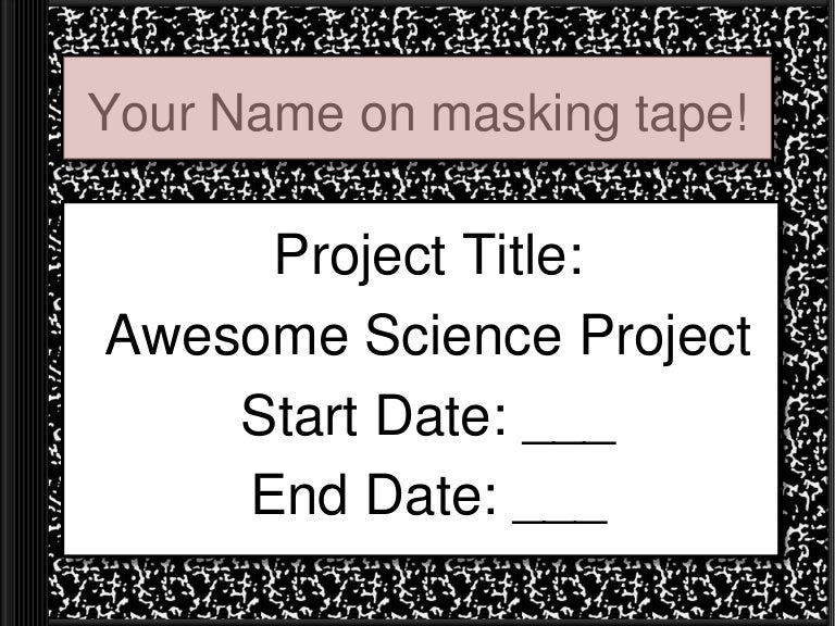 whats background research on science project