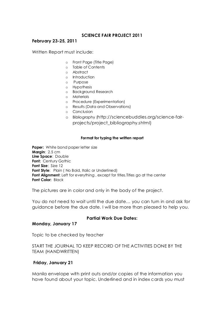 science fair project guide 2010 2011