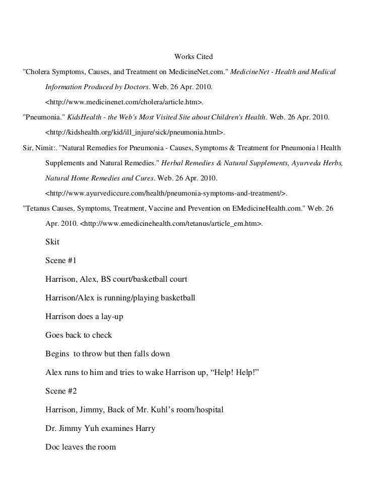 Science skit script 2