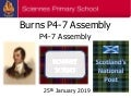 Sciennes P4-7 Burns Assembly 25.1.19