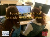 Scientific and technical translation in English - Week 10 2019