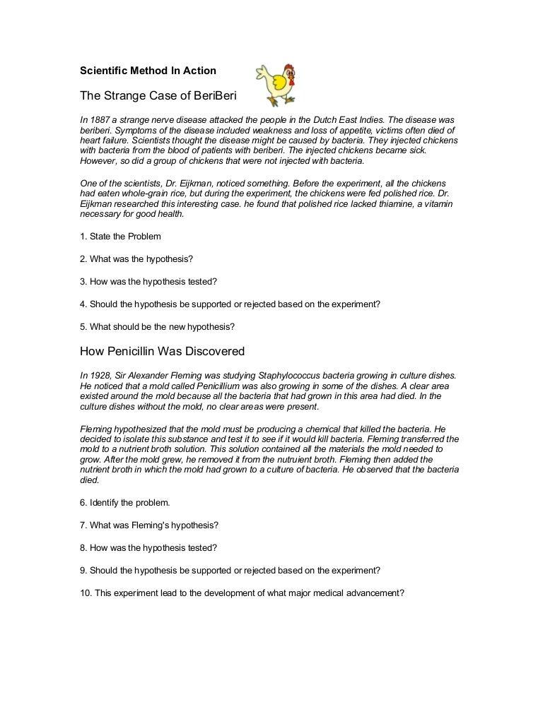 Scientific Method In Action Worksheet Free Worksheets Library – Scientific Method Scenarios Worksheet