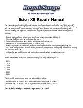 scion xb repair manual 2004 2011 rh slideshare net 2010 scion xb owners manual 2011 scion xb service manual