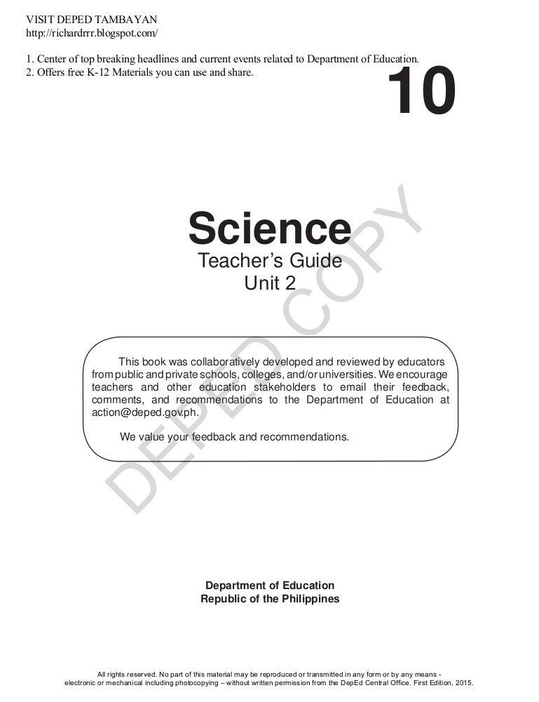 81b97c5fc1a GRADE 10 SCI MODULE TEACHER S GUIDE UNIT 2