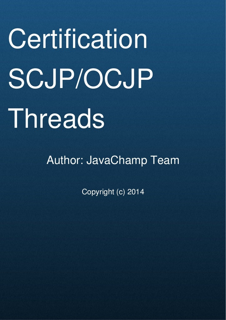 Scjpocjp Java Thread Mock Exam Questions