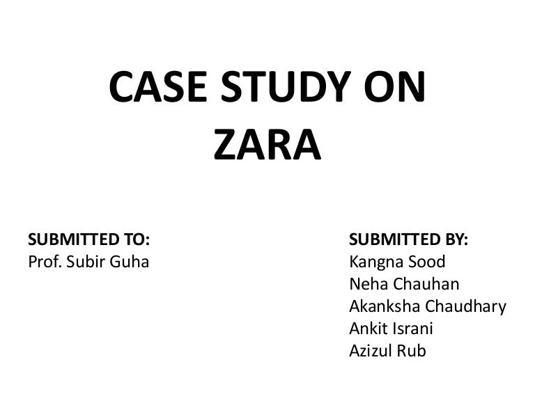 supply chain management of zara case study