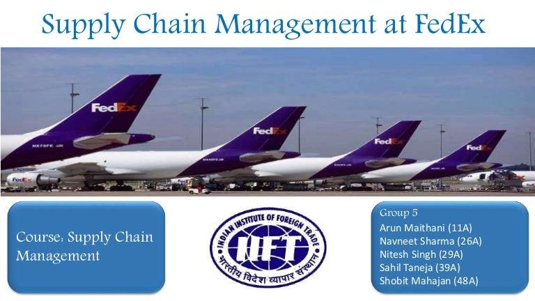 FedEX- Supply Chain Management