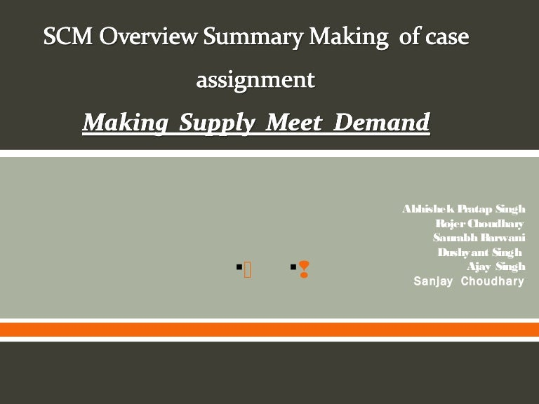 making supply meet Start studying making supply meet demand in an uncertain world learn vocabulary, terms, and more with flashcards, games, and other study tools.