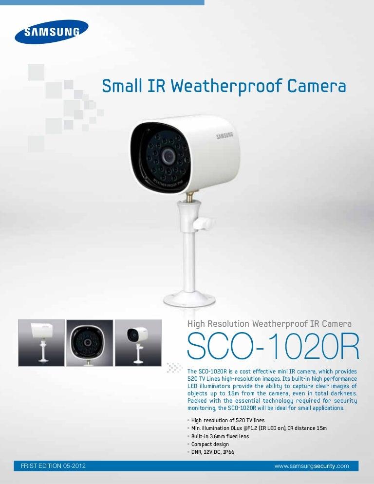 Samsung Techwin SCO-1020R Data Sheet