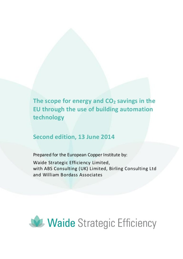 Building Automation The Scope For Energy And CO2 Savings In