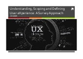 Scoping user experience