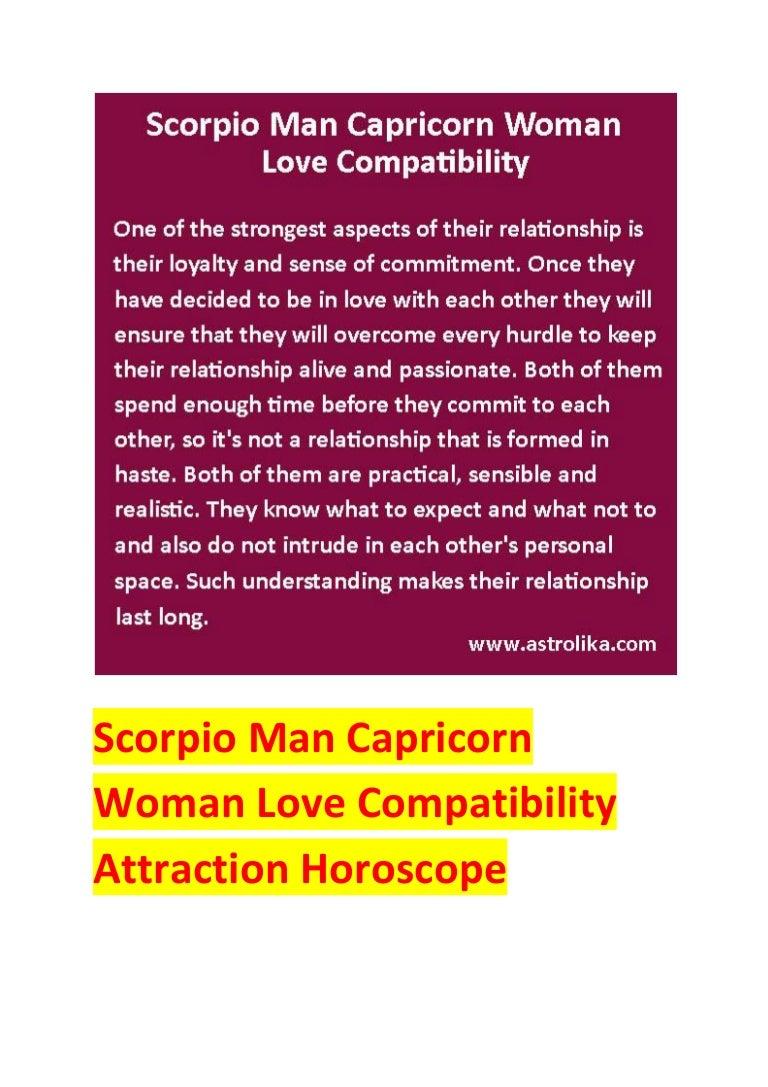 Scorpio man capricorn woman love compatibility attraction