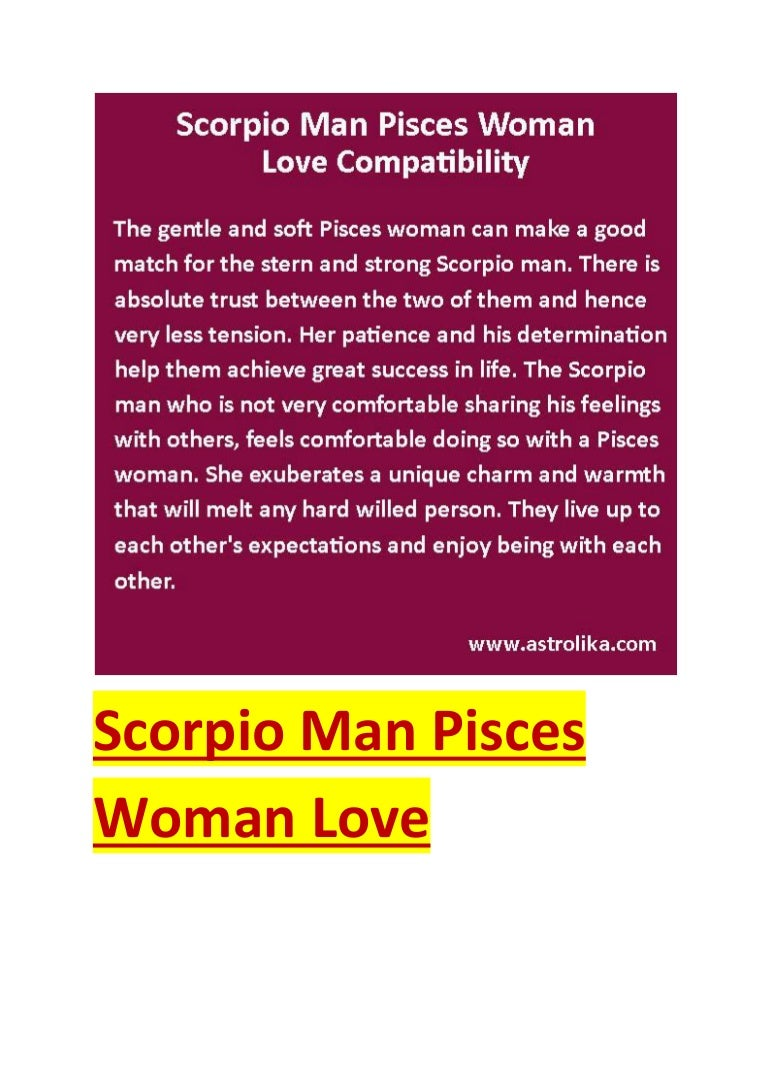 Scorpio man pisces woman love compatibility attraction