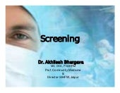 Screening in Public Health