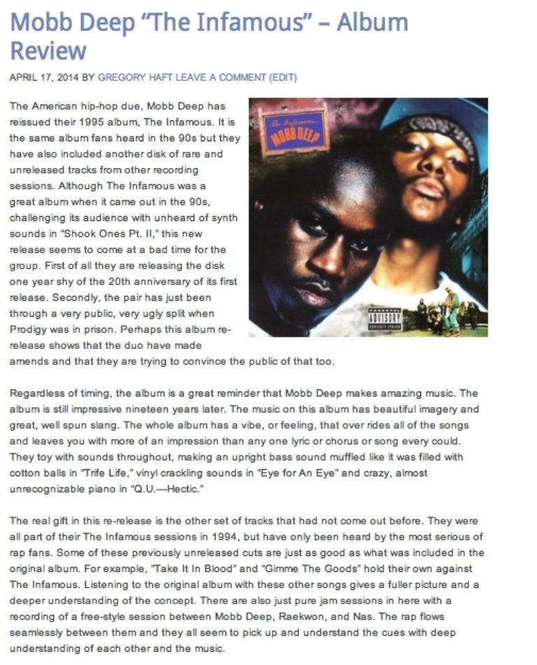 "Lyric mobb deep shook ones part 2 lyrics : Gregory Haft - Mobb Deep ""The Infamous"" – Album Review"