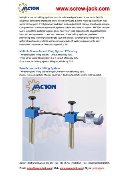 building crank handle screw jack adjusting system design. Black Bedroom Furniture Sets. Home Design Ideas