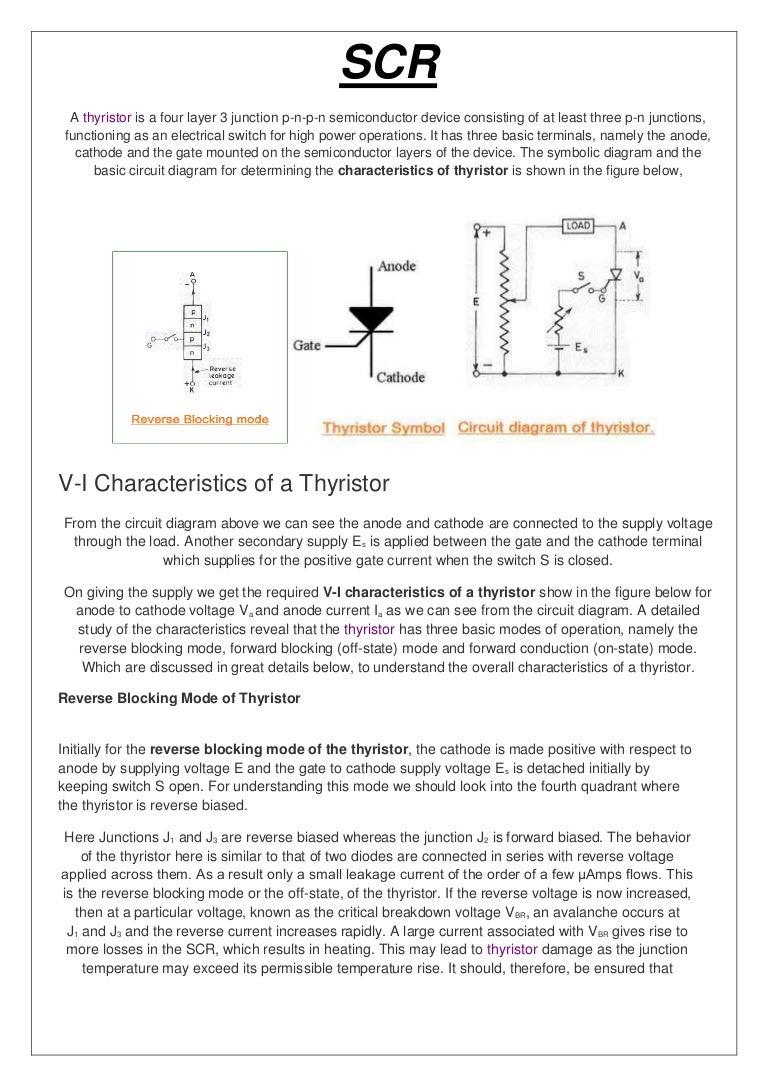 Scr Made By Me P N Junction Circuit Diagram