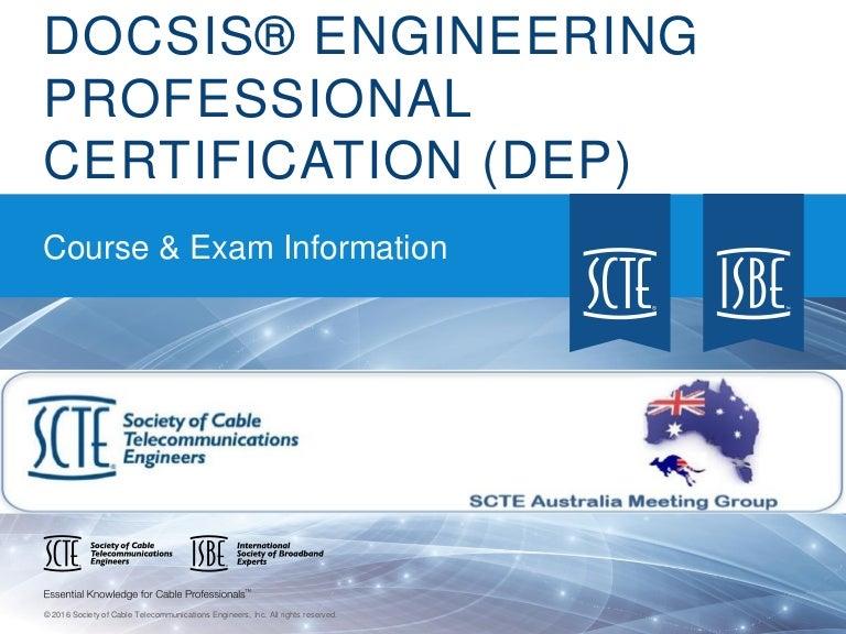 Docsis Engineering Professional Dep Certification