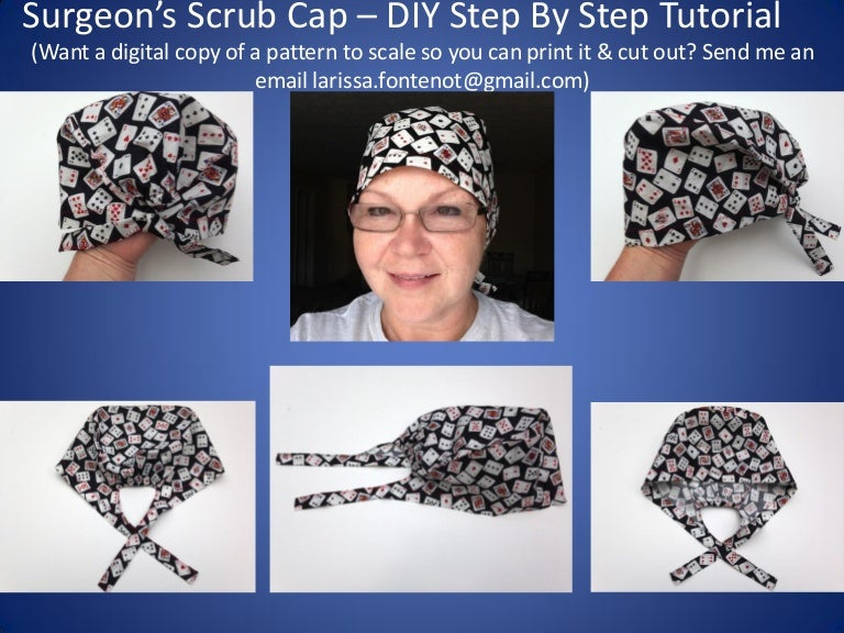 Scrub Caps Printable Pattern and How To DIY Tutorial Teaching You How…