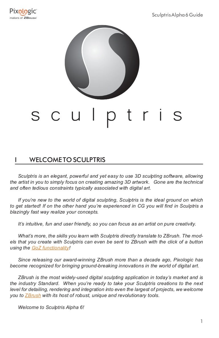 Sculptris alpha6 documentation