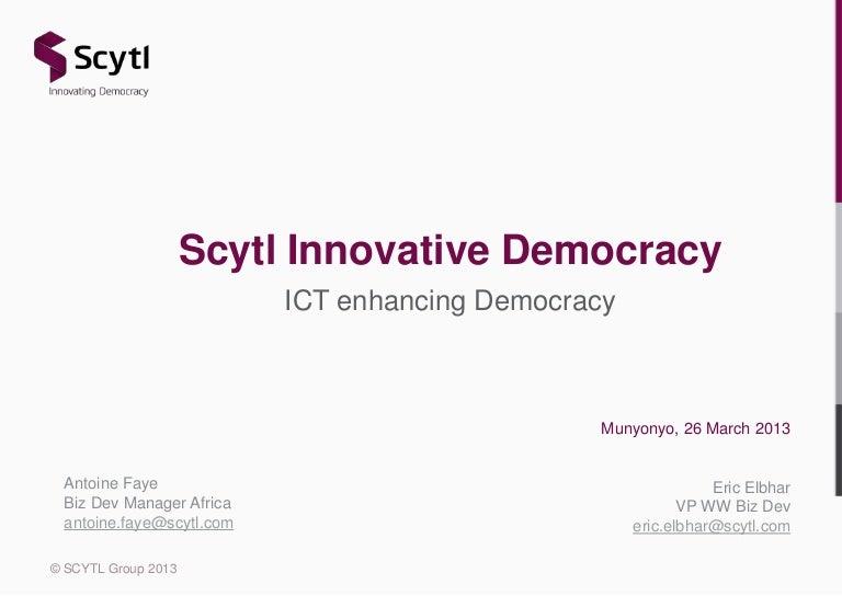 Scytl Election Modernization Solutions - e-Gov Uganda