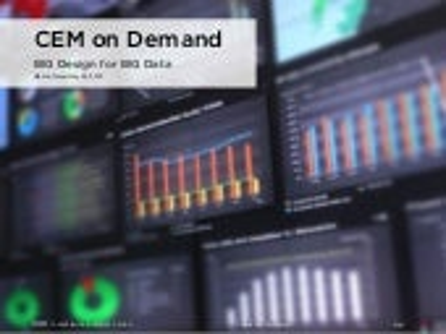 Service design breakfast - Customer experience management on Demand, BIG Design for BIG Data