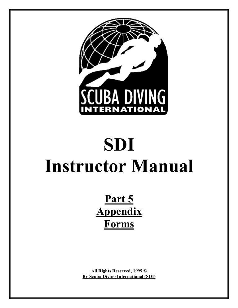 Sdi instructor manual part 5