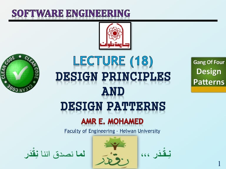 Se2018 Lec 18 Design Principles And Design Patterns