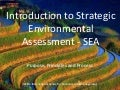 Introduction to Strategic Environmental Assessment