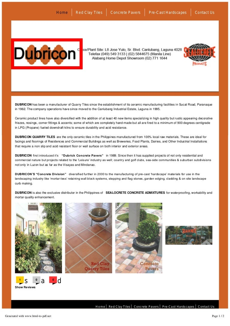 Sealocrete products quarry tiles dubricon mfg and mktg dailygadgetfo Choice Image